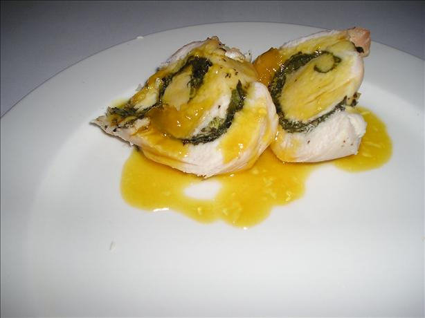 Minted Chicken With Sweet Orange Sauce