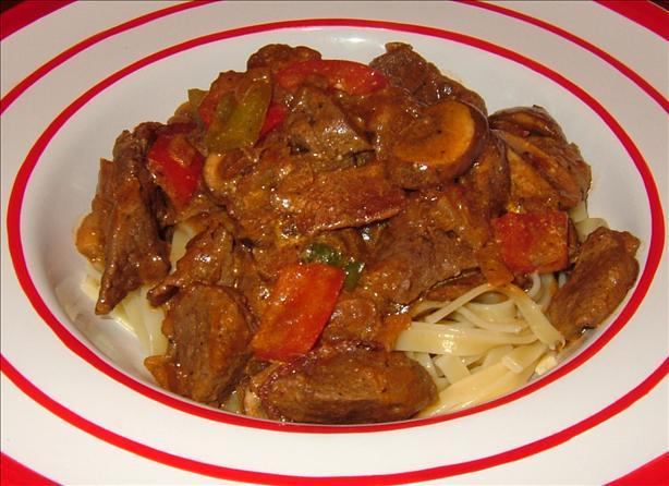 Alberta Beef, Mushroom and Pepper Pasta