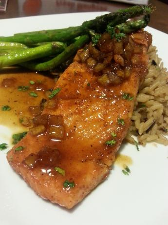 Apple Maple Beer Glazed Salmon