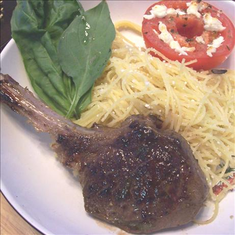 Lamb Chops With Basil Lemon Sauce