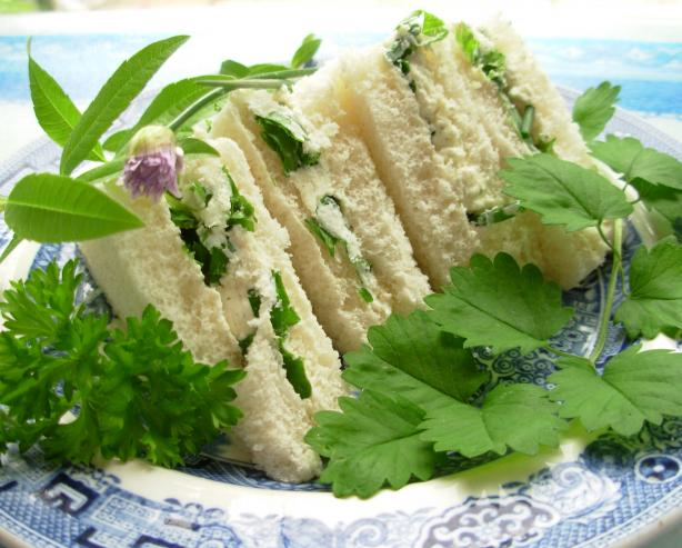 Herb Cheese Tea Sandwiches