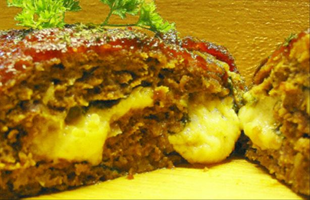 Spinach-Cheese Stuffed Meatloaf