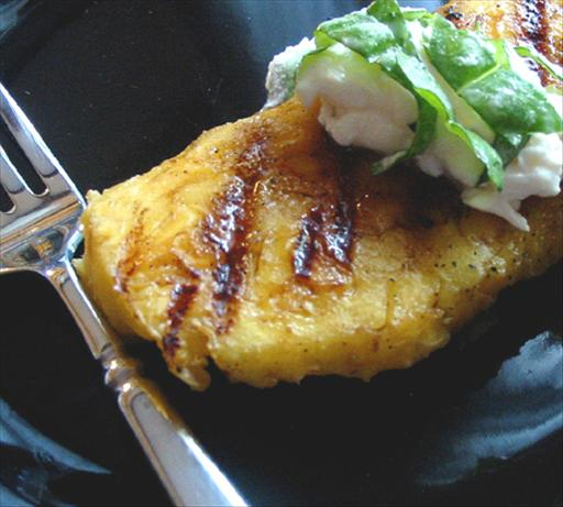 Grilled Pineapple With Basil