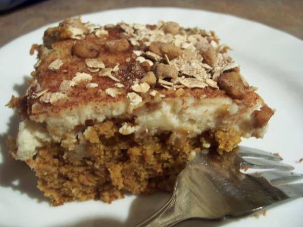 Pumpkin Latte Cake Bars