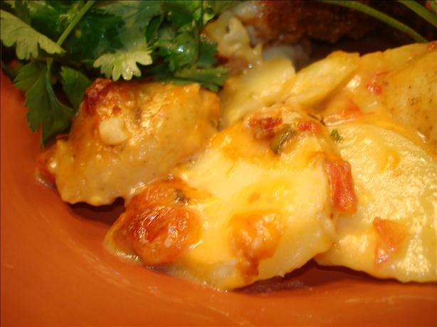 Cheesy Rotel Potatoes
