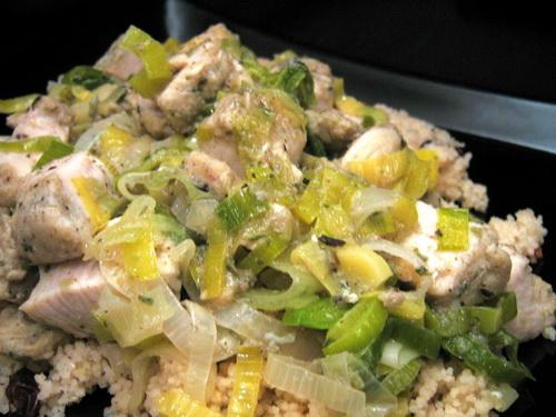 Chicken and Leeks over Couscous