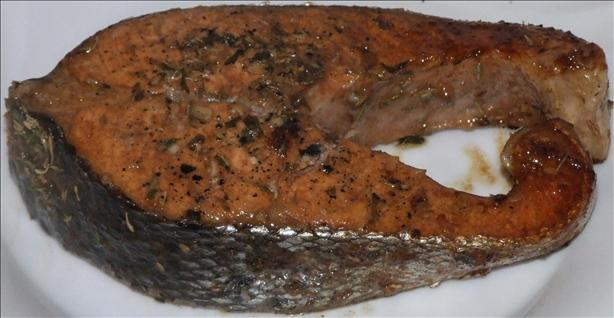 Salmon With Herb Dressing