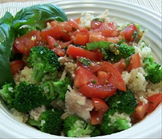 Chicken and Broccoli Couscous With Salsa