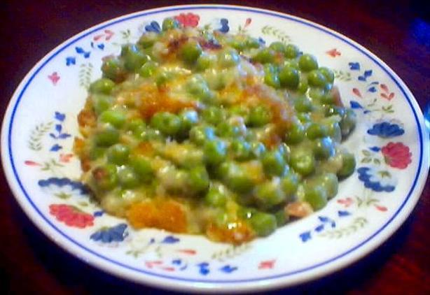 Baked Frozen Peas