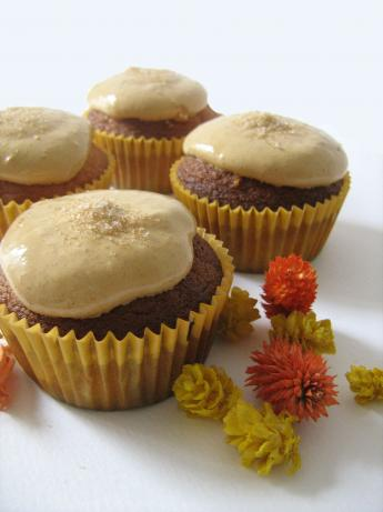 Fresh Orange Cupcakes With Orange Icing