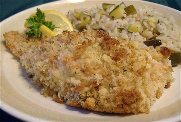 Crusty Dill-Garlic Salmon