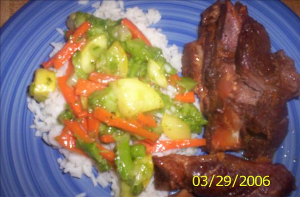 Stir Fry Veggies With Rice