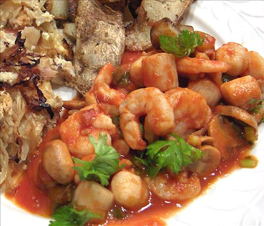Portuguese Shrimp and Scallops