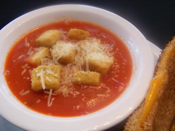 Quick Creamy Tomato Soup With Herbs