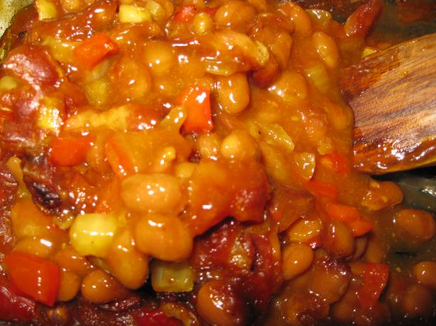 Aunt Sharon's Pork and Bean Bake