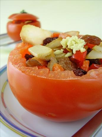 Raisin Stuffed Tomatoes