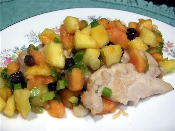 Rum Marinated Chicken With Tropical Salsa