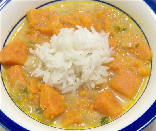 Sweet Potato Soup With Marooned Rice