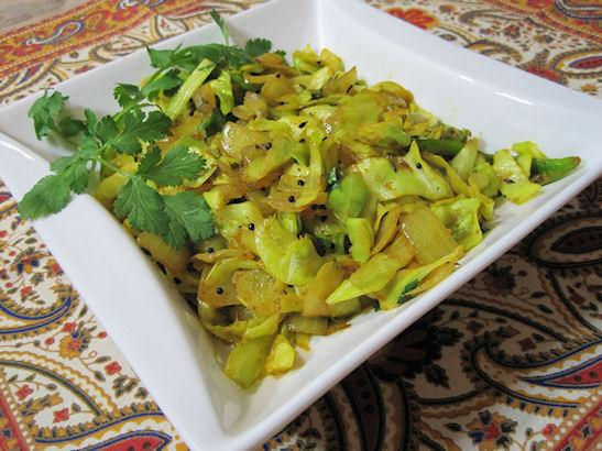 Spiced Indian Cabbage