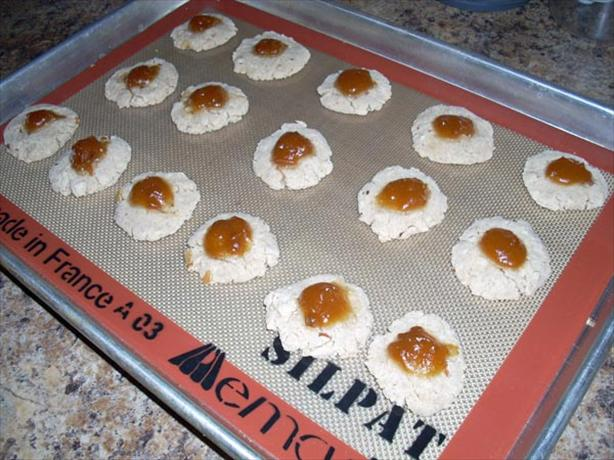 Vegan Jam Almond Cookies