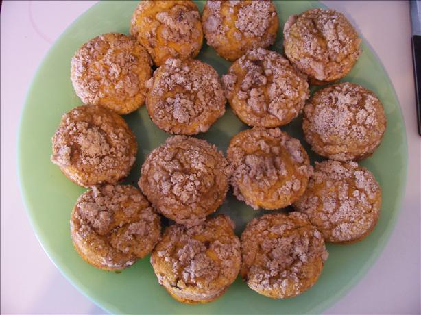 Pumpkin Custard Streusel Muffins