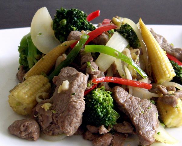 Chinese Stir Fried Lamb With Chilli