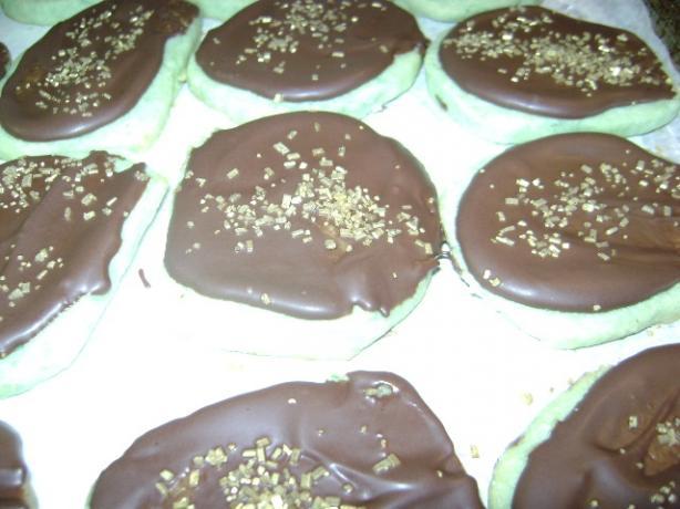 Mint Shortbread Cookies