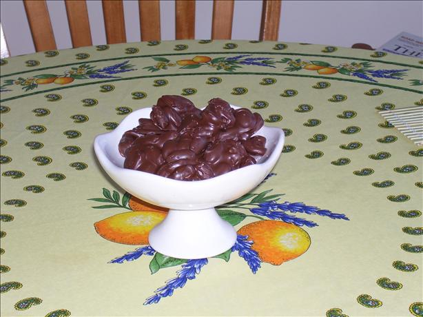 Chocolate Drizzled Almonds