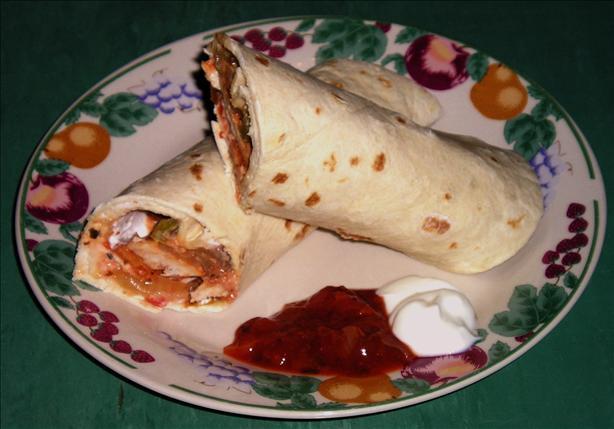 Chicken Salsa Wraps