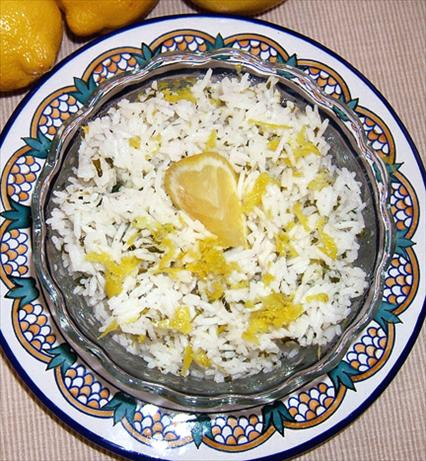 Lemony Rice With Olive Oil Drizzle