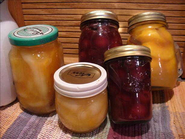 Canned Peaches Amaretto