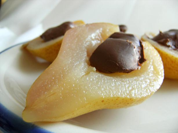 Spiced Pears With Chocolate Mascarpone