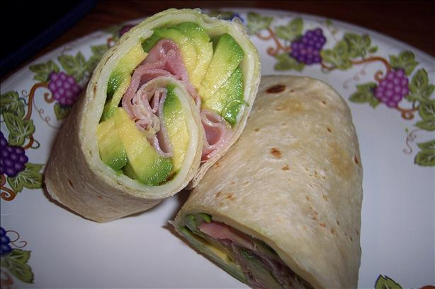 Ham, Swiss & Avocado Wrap