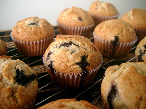 Healthy Berry Blue Muffins