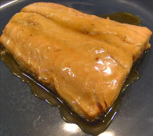 Whiskey Caramelized Salmon