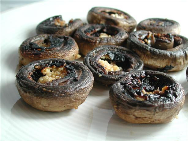 Quick BBQ Garlic Mushrooms