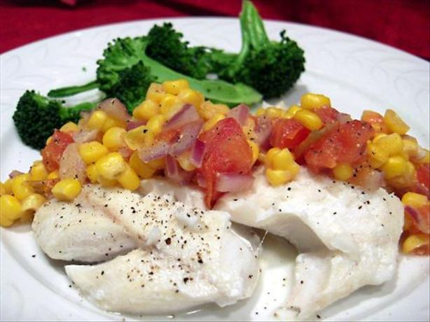 Poached Haddock With Corn Relish