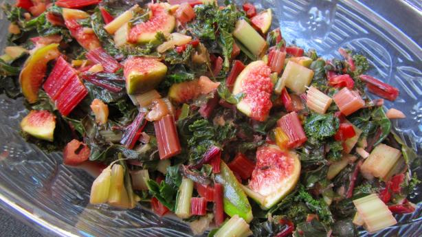 Sauteed Leafy Greens With Grapefruit Vinaigrette