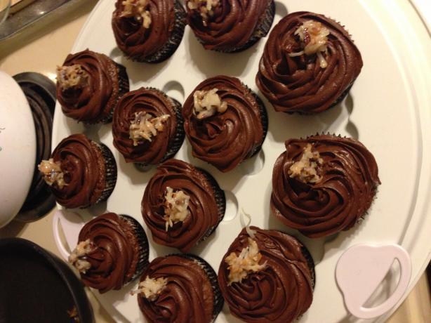 Filled German Chocolate Cupcakes