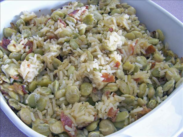 Lima Bean and Rice Casserole