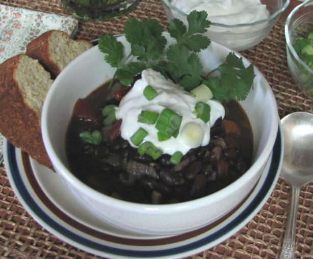 Black Bean Soup With Cumin and Jalapeno
