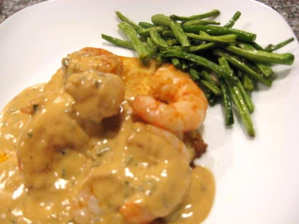 Sautéed Shrimp With Polenta and Manchego Sauce