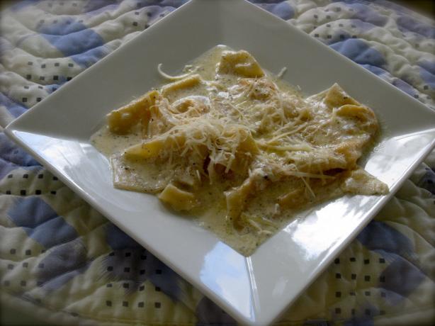 Pumpkin Wonton Ravioli W. Sage Butter Cream