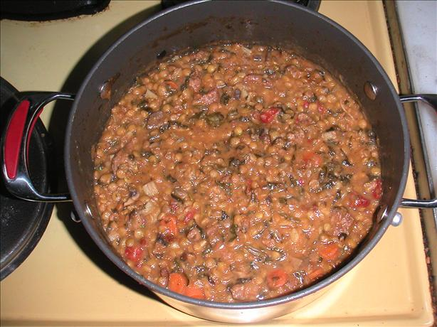 Rachael Ray's Hungarian Sausage and Lentil Stoup