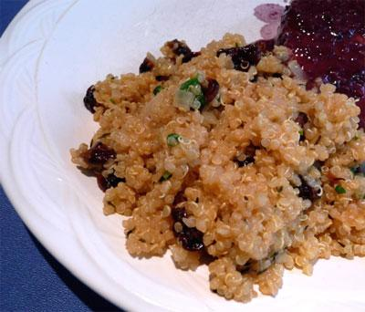 Quinoa With Cherries and Herbs