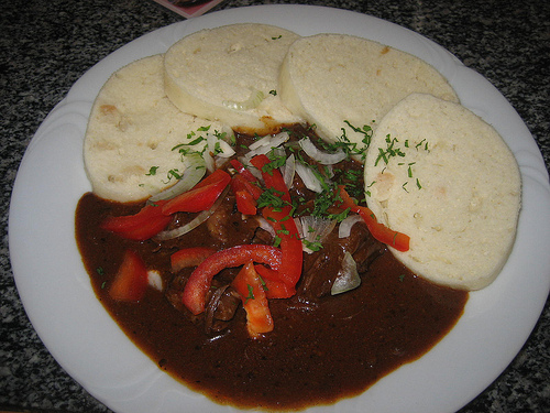Czech Goulash With Bread Dumplings