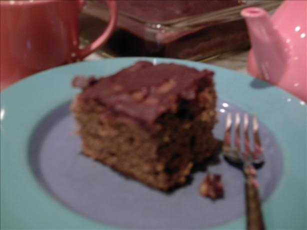 Mocha Walnut Cake With Mocha Glaze