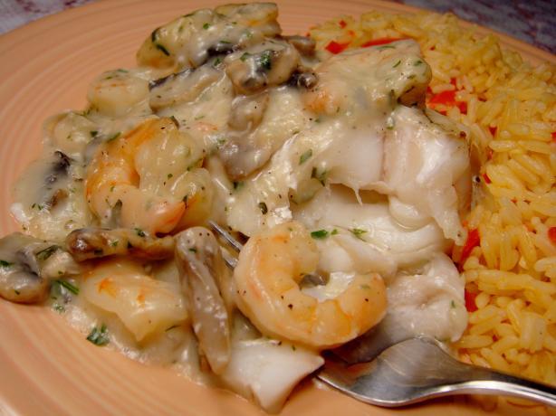 Flounder Fillets in Shrimp Sauce for Two