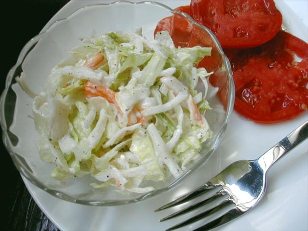 Depression Crab Salad