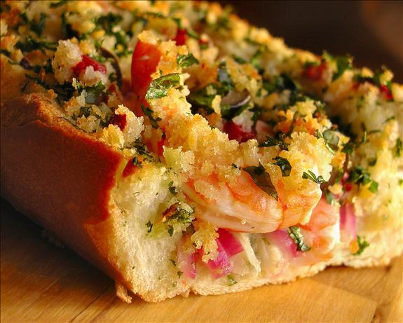 Hot and Crusty Shrimp Sandwich